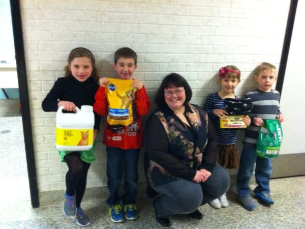 Students from Gregory Drive Public School donate items to Ontario SPCA Kent County Branch