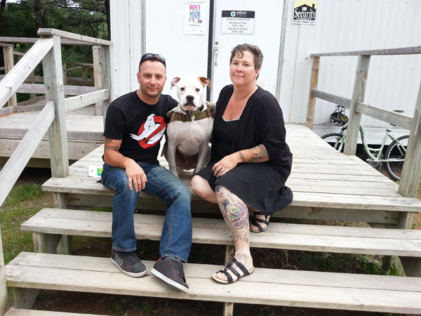 Dozer and his new family