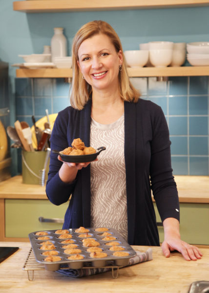 Anna Olson with pupcakes