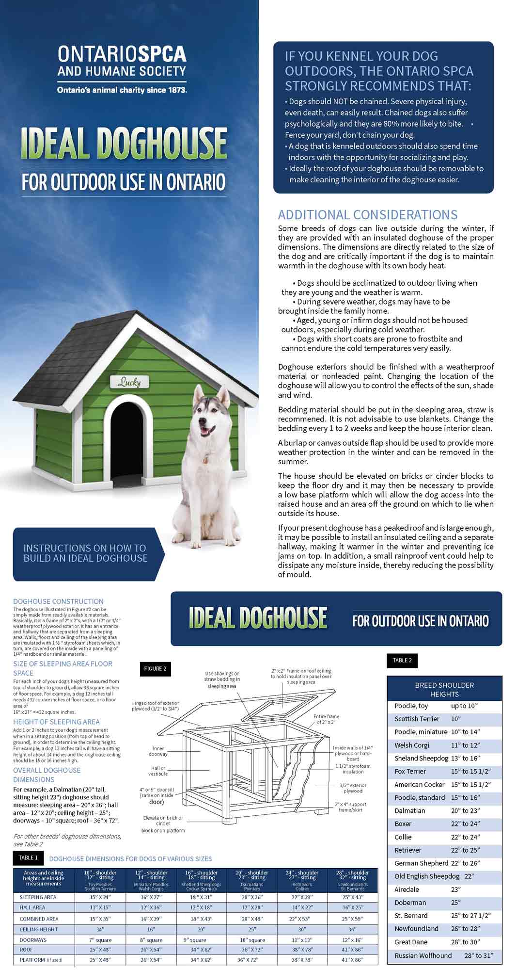 ideal doghouse, doghouse, winter pet safety, brochure
