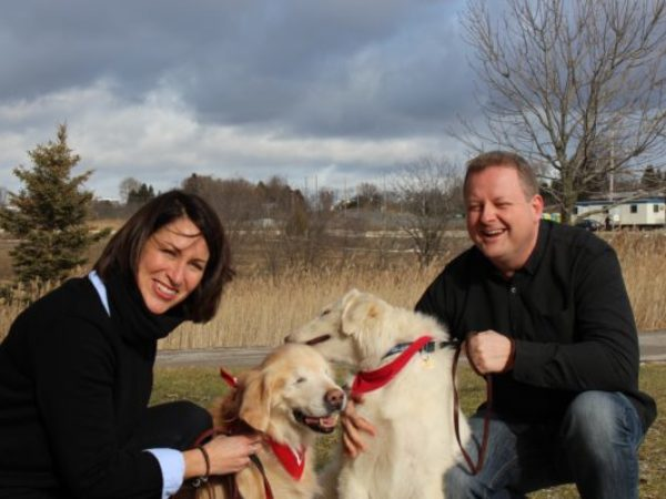 smiley the blind therapy dog, pal, joanne george