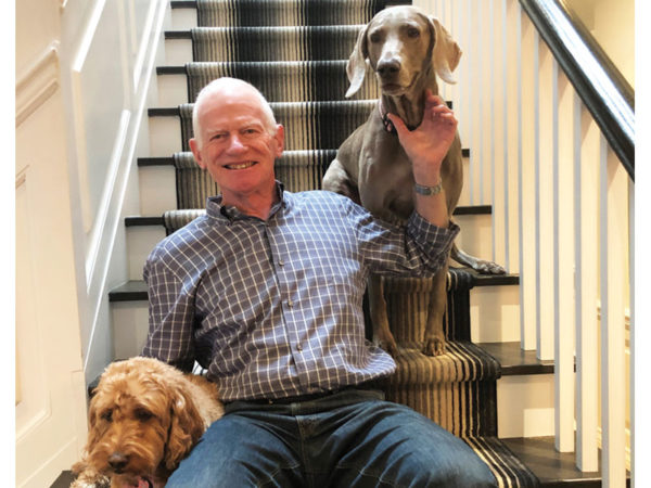 John Bradlow and his dogs