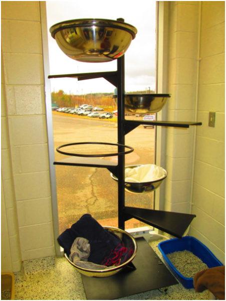 cat food tower