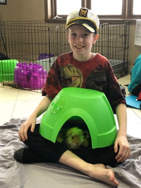 boy with guinea pig, Ontario SPCA