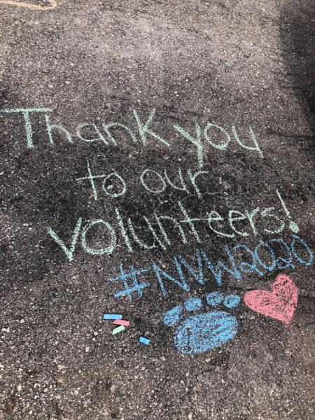 National Volunteer week, media release, chalk thank you