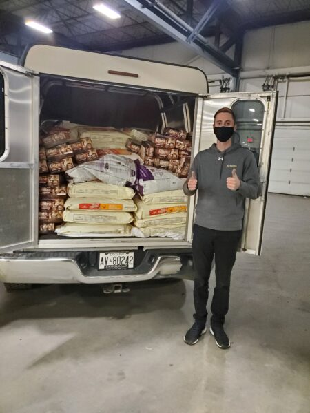 pet valu food donation